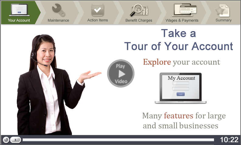 Click to start the Take a Tour of Your Account video